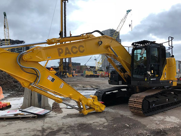 PACC-Civil-excavator-on-site