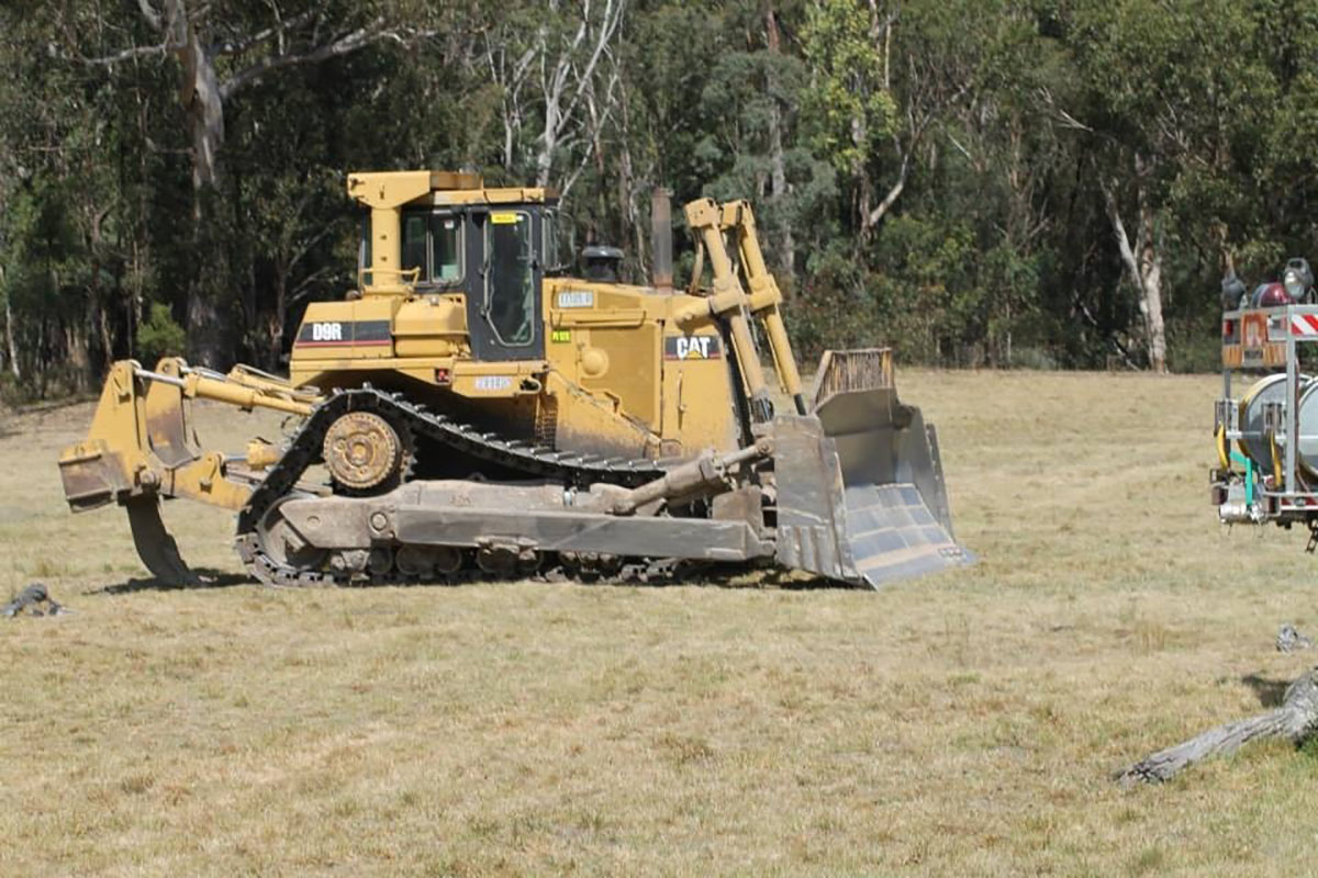 Peters Earthmoving Cat Dozer on site