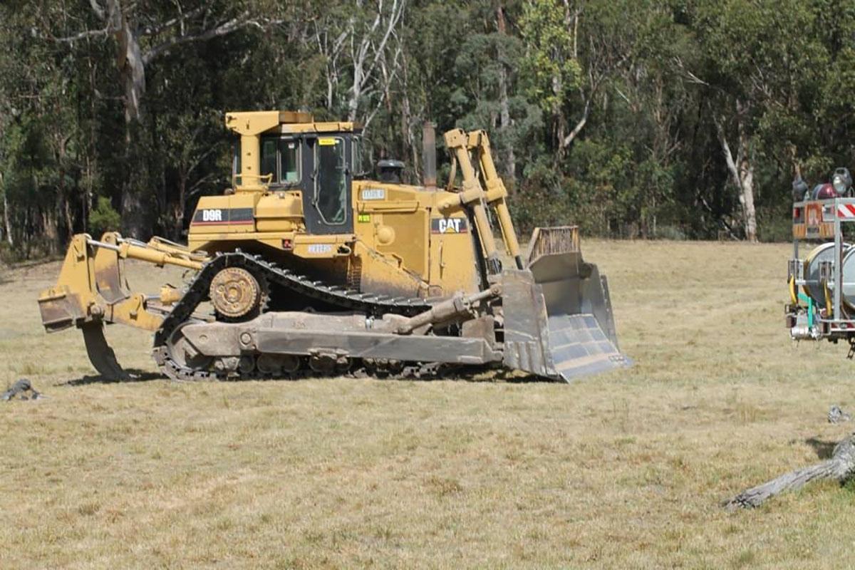 Peters Earthmoving Cat Dozer on site