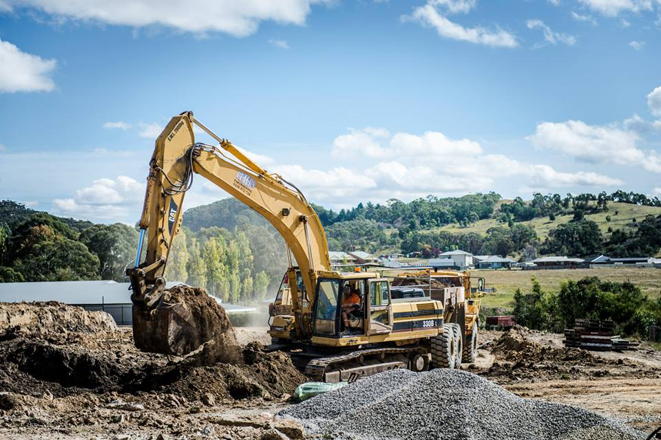 Peters Earthmoving excavator and tipper