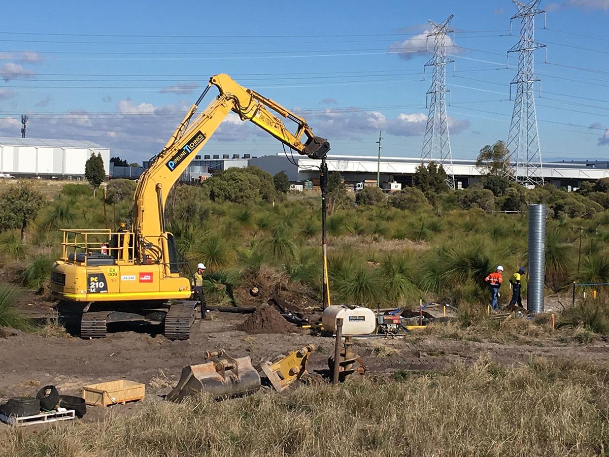 Pipeline Technics Excavator on site