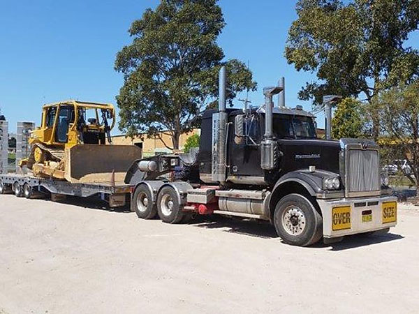 Plant Shift Heavy Haulage Contractors Truck Low Loader dozer hire Narellan New South Wales