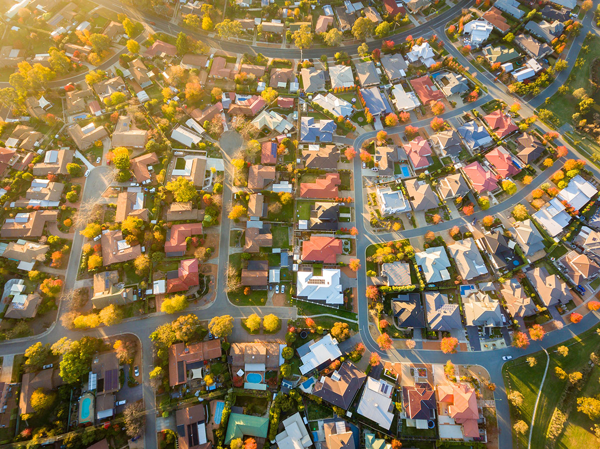 Property drone shot