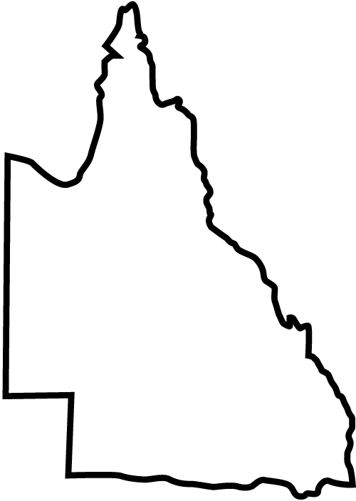Queensland-Black-Outline