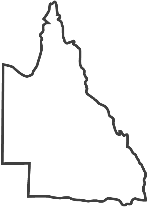 Queensland State Outline