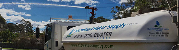 Queensland Water Supply - Water Truck for Hire banner
