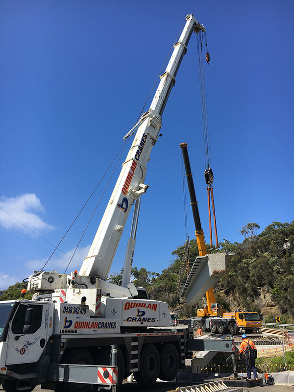 Quinlan-Cranes-steel-rail-works-mobile-crane-hire-Melbourne