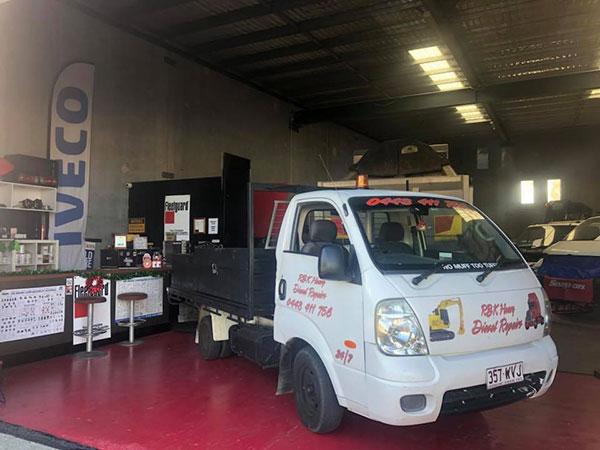 RBK-Heavy-Diesel-service-truck-in-shop Gold Coast