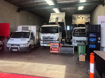 RBK-Heavy-Diesel-tipper-and-truck-in-shop Gold Coast