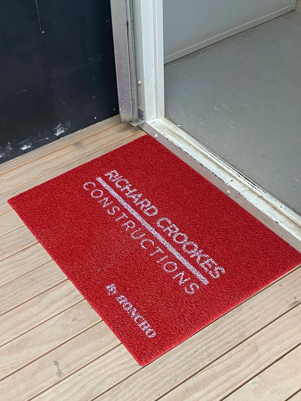 Honcho customisable door mats. Ideal for all building sites.