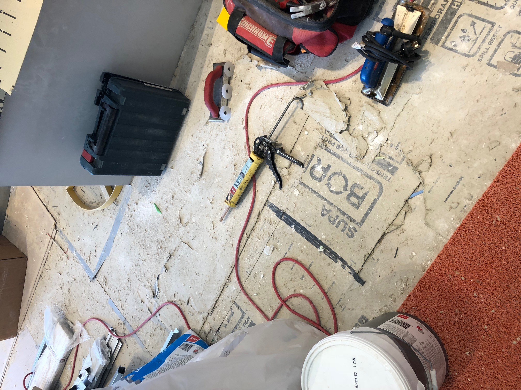 Generic surface protection not able to handle building site conditions