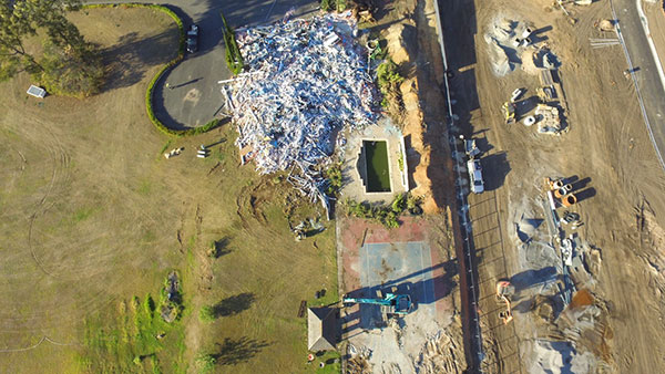 Relient-Civil-Drone-view-of-House-Demolition-Brisbane