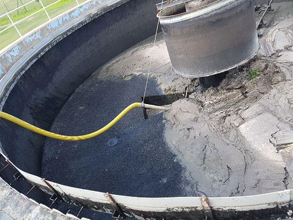 DC Vacuum Pumping Services settlement tank