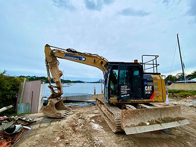 Rick Davis Contracting Compactor Hire Sydney 12 Tonne Excavator