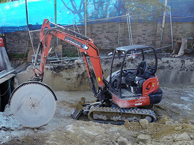 Rick Davis Contracting Compactor Hire Sydney 4.5 Tonne Excavator