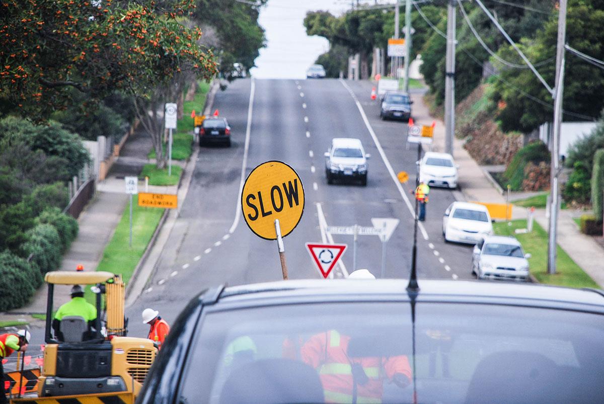 Roads works worker