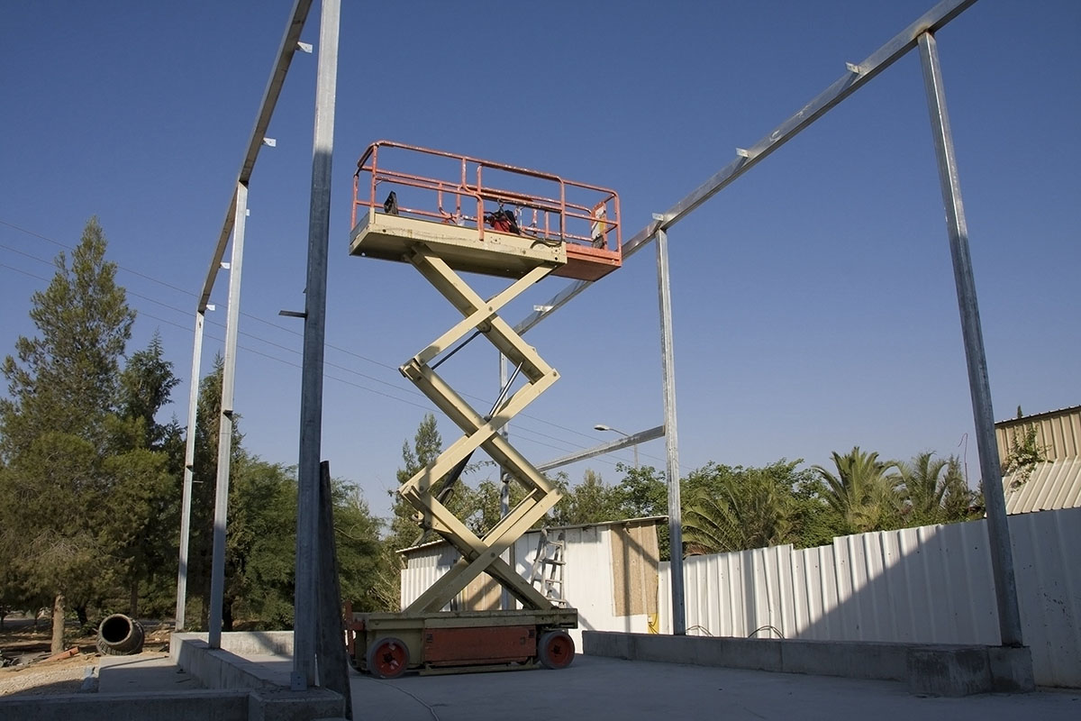 Scissor Lift on construction site