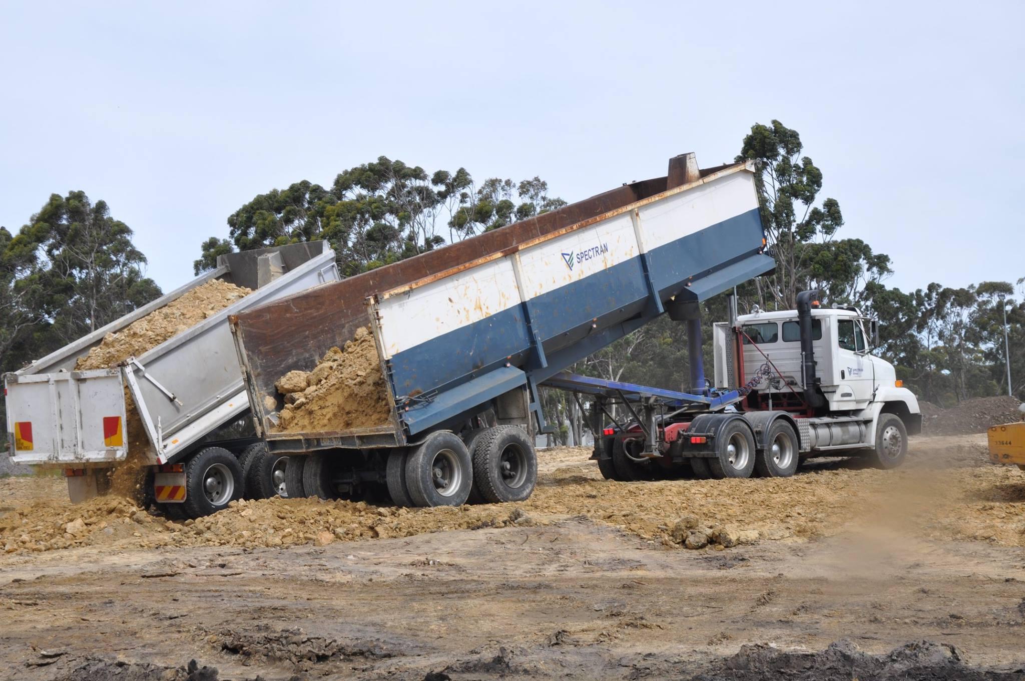 Spectran Group Tipper Truck with Dirt Hobart