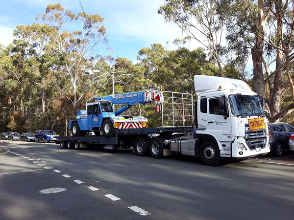 Spectran-Group-Franna-on-flatbed-truck-Hobart
