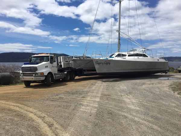Spectran-Group-Franna-on-flatbed-truck-Hobart