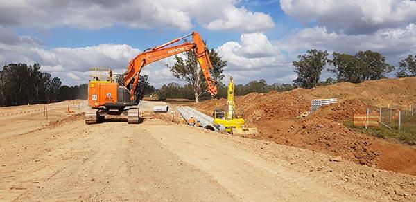 Subterra Civil Excavator on Site in Sydney