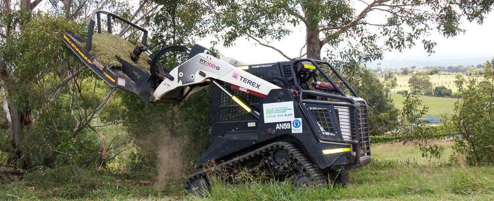 TEREX Posi-Track Loader, perfect for all-terrain slashing