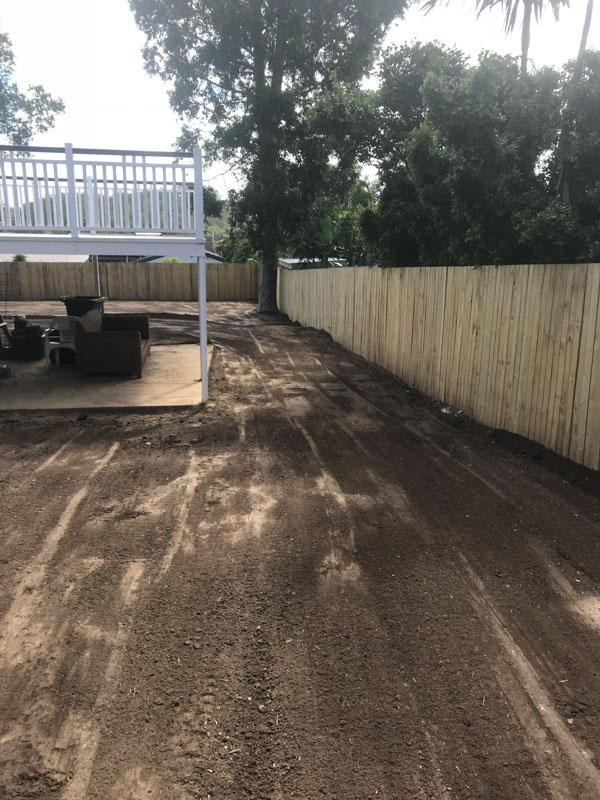 Side yard preparation