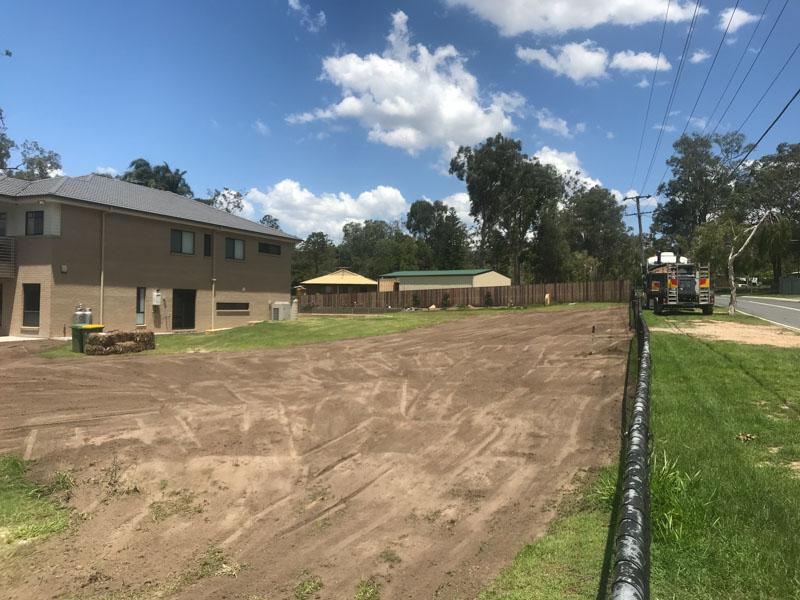 Large yard excavation work