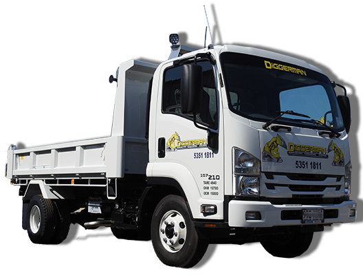Truck and Tipper Hire Sunshine Coast Diggerman Earthmoving