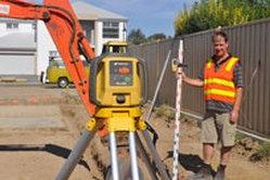 TopCon Laser Surveying operator Excavator