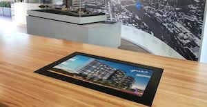 Q1 Design Flatscreen Marketing Solution