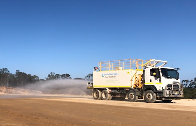 Queensland Water Supply water truck hire 20000L Dust Suppression