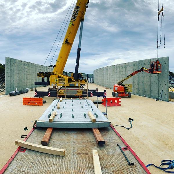 Concrete wall tilt-up