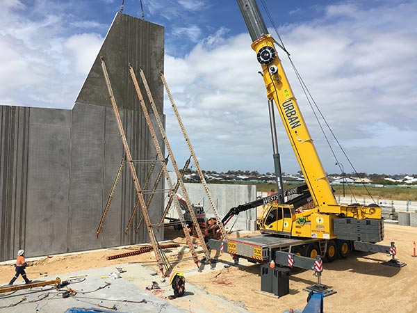 Crane performing tilt-up