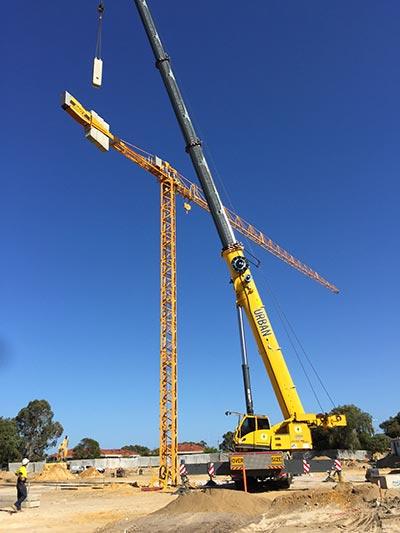 Constructing a tower crane