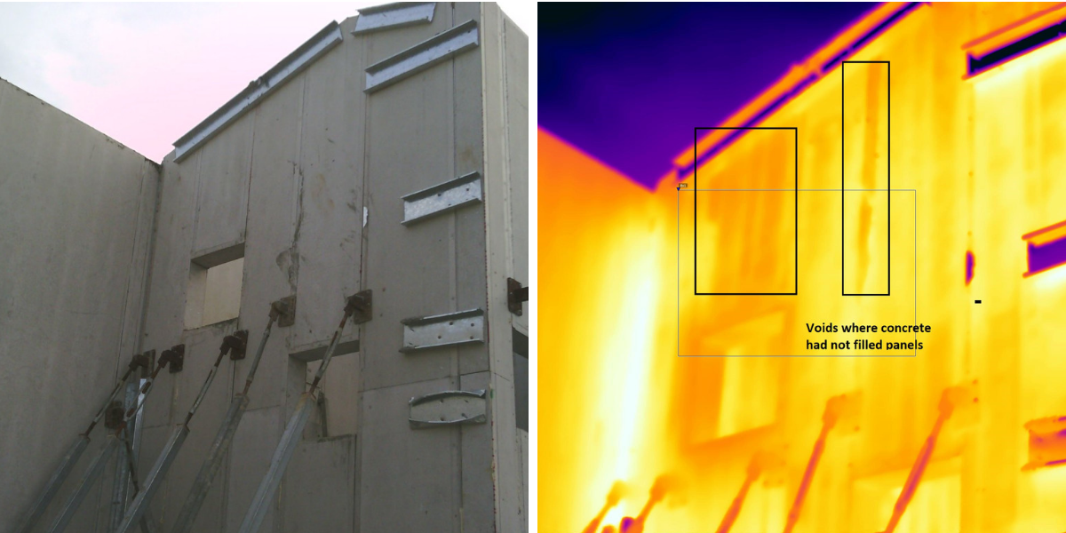 Void Concrete Panels Thermal Imaging
