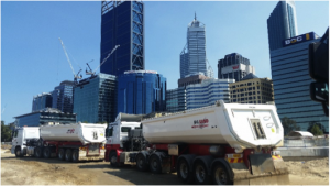 WA Sand Supply and Haulage on site
