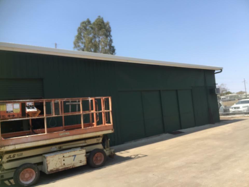 WJS Commercial warehouse guttering -surf mist colorbond