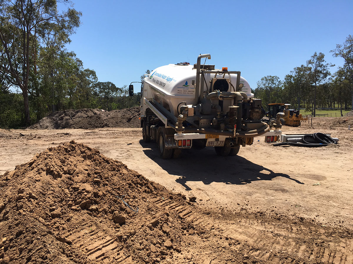 Water Truck on site
