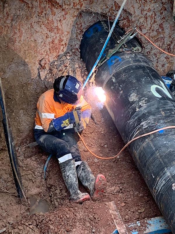 AHA Boring welding pipe horizontal digging and drilling