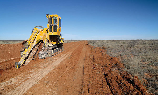 All Energy Contracting trencher hire services for cable laying in Queensland