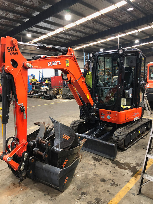 All Skips U17-3 Kubota 1.7T Excavator for Hire Penrith