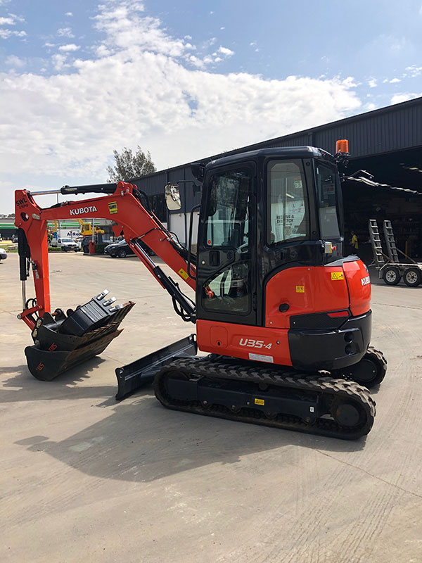 All Skips U35-4 Kubota 3.7T Excavator for Hire Penrith