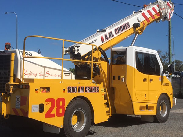 A.M. Cranes and Rigging 28 tonne TIDD crane hire Kingaroy