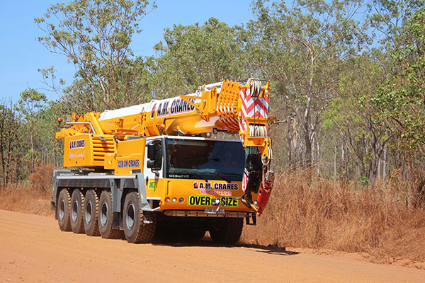 160 tonne all terrain crane hire