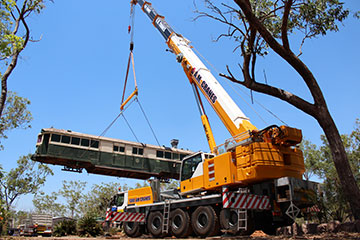 A.M. Cranes and Rigging 80 tonne all terrain crane