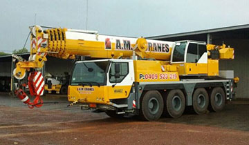 A.M. Cranes and Rigging 70 tonne all terrain crane