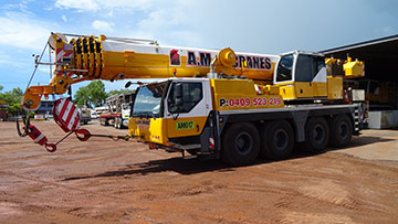 A.M. Cranes and Rigging 95 tonne all terrain crane