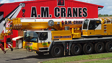 A.M. Cranes and Rigging 100 tonne all terrain crane