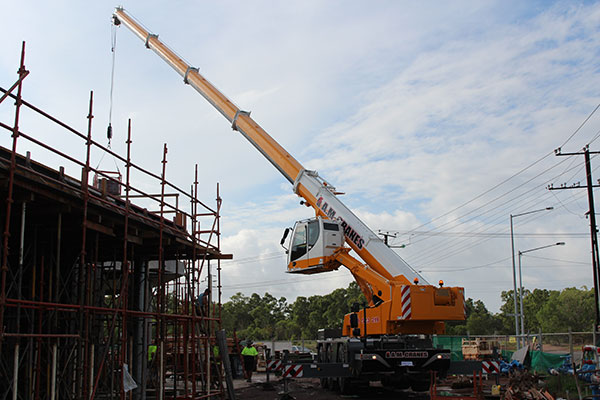 A.M. Cranes and Rigging 45 tonne all terrain crane